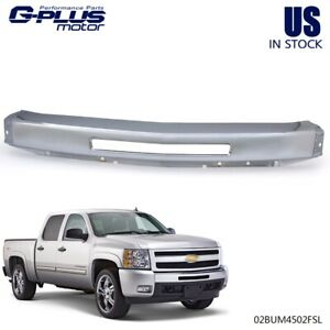 For 2007 2013 Silverado Front Bumper Impact Face Bar Chrome With Air Intake Hole