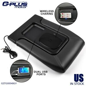 For 02 07 Chevy Silverado Gmc Chevrolet Usb Plug Wireless Charger Center Console