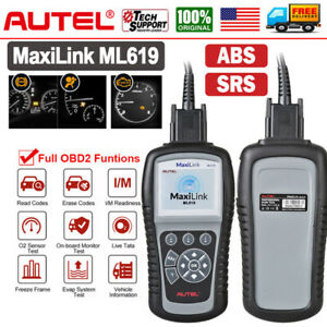 Abs Srs Airbag Scanner Autel Ml619 Car Obd2 Diagnostic Tool For Ford Gm Bmw Benz