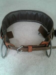 Buckingham Leather Lineman Tree Pole Climbing Belt Size 32