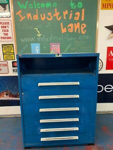 45 Wide Stanley Vidmar Tool equipment Storage Cabinet 6 Drawers