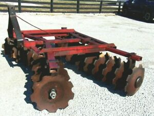 Used 7 Ft Lowery 2418 Disc Harrow 3 Point free 1000 Mile Shipping From Ky
