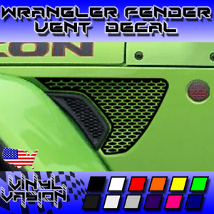 Honeycomb Fender Vent Decals For Wrangler Rubicon Jl Jeep 2018 2019 2020 2021