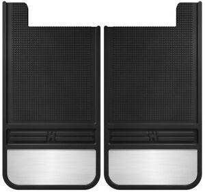 Husky Liners Black Rubber Rear Mud Flaps For Chevy Jeep Ford Dodge Trucks