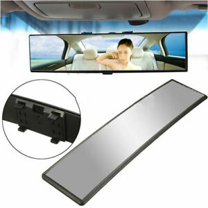 Us Stock 12 2 Wide Car Curve Convex Interior Clip Panoramic Rear View Mirror