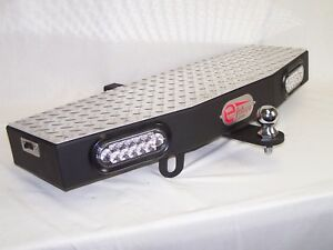 36 Wide Extension Hitch Step With 2 6 Leds Free 2 Trailer Towing Ball