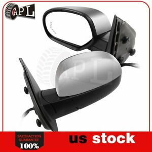 Power Heated Memory Turn Signal Arrow Light Side Mirrors For 2007 2013 Chevy Gmc