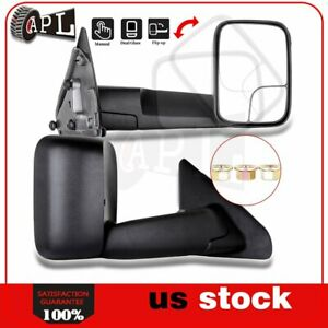 Manual Tow Mirrors For 2002 2009 Dodge Ram 1500 3500 Lh rh