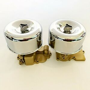 Hot Rod 2 X 2brl Air Cleaners Bullet Wing Nuts Low Profile 2 5 8 Neck
