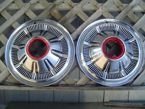 Two Vintage 66 67 68 Galaxie Ford Pickup Truck Bronco Hubcaps Wheel Covers 4 4