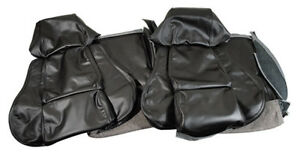84 88 Corvette Black Driver Leather Standard Seat Covers No Perforations 483620
