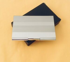 New Business Card Case Credit Card Id Holder Stainless Steel Silver Tone Nib