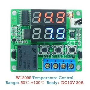 W1209s Dc 12v Mini Thermostat Regulator 50 120 c Digital Temperature F