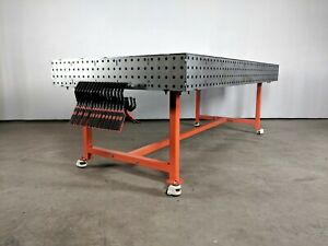 Welding Table Fixturing And Fabrication Table 48x96 With Free Legs And Casters
