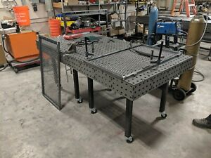 Welding Table Fixturing And Fabrication Table 40x40 With Free Legs And Casters