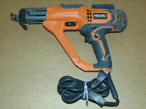 Rigid Electric Collated Screw Gun 1 3 Drywall Deck Remodel Power Tool Builder