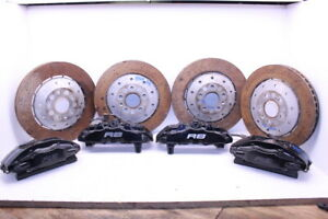 2010 2013 Audi R8 Brake Caliper Set Brembo Front Rear Set Rotors