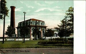 1908. PORT HURON MICH. WATER WORKS. POSTCARD UPA17 $8.00