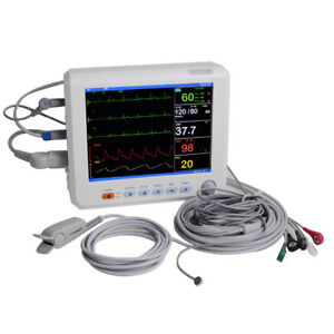 Super Patient Monitor 6 parameter Vital Sign Cardiac Monitor Hospital Fda Passed