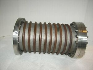 Varian High Vacuum Research Chamber 8 Reducer Flange 2 way Copper Tubing