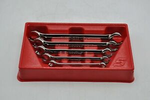 Snap On Rxfs605b 5 Pc Sae Double End Flare Nut Line Wrench Set 1 4 13 16