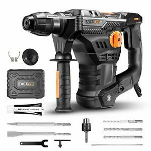 Tacklife 1 1 4 Inch Sds plus 12 5 Amp Rotary Hammer Drill 7joules Impact Energy
