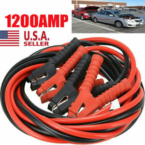 1200amp Booster Cables 1 Gauge 20ft Power Start Jumper Heavy Duty Car Van