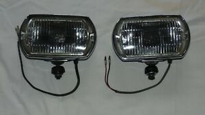 Lucas Square 8 Fog Lights Lamps Black Plastic Buckets