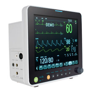 Portable 12inch Vital Signs Patient Monitor 12 color Tft Multi parameter