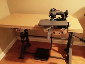 Singer Blind Stitch Sewing Machine With Factory Table