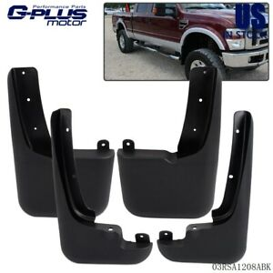 For 99 10 Ford F250 F350 With Fender Flares Front Rear Mud Flaps Splash Guards
