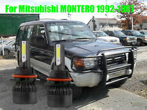 Led For Montero 1992 1997 Headlight Kit 9004 Hb1 6000k White Bulbs High low Beam