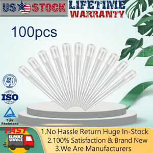 100 Pcs Of One Pack 1 10ml Pipette Tips Clear Polypropylene Dropper Micro Tips