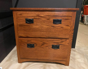 Later Filing Cabinet 2 Drawer Solid Oak With Dove Tail Drawers Retail 1 239 00
