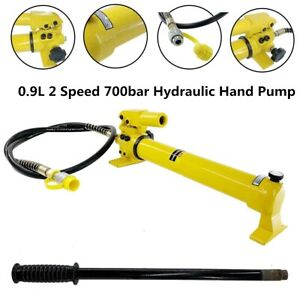 0 9l Hydraulic Hand Pump 700bar 10000psi Manual Hydraulic Power Pack With Hose
