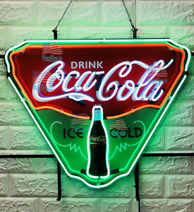 Drink Coca Cola Ice Cold Neon Light Sign 19