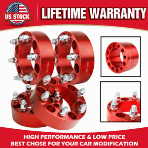 4x 2 Thick 6x5 5 M14x1 5 Hubcentric Wheel Spacers For Chevy Silverado 1500 Gmc