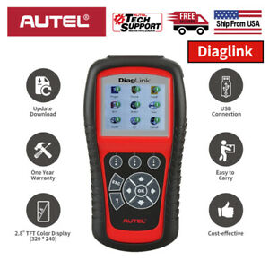 Us Autel Diaglink Obdii 2 Diagnostic Scanner Full System Car Code Reader Abs Srs