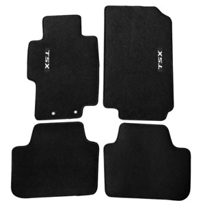 For 04 08 Acura Tsx Floor Mats Carpets Front Rear Nylon Black W Tsx
