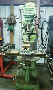 Bridgeport Vertical Knee Mill 10 X 44 T slotted Table Spindle Speeds 80 2720