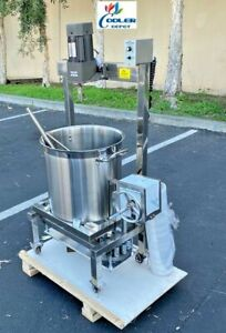 New 40l Steam Kettle Mixer Hand Crank Tilt Natural Gas And Electric Stirrer