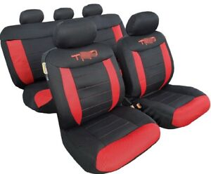 Seat Cover Black Red Full Set Universal Fit For Toyota Tacoma 4runner 2003 2020