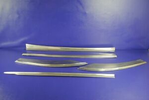 52 53 Buick Super Roadmaster 4 Dr Left Right Body Door Chrome Trim Moulding Set