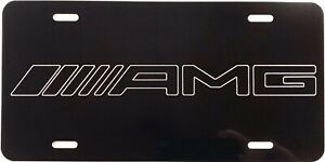New Amg 2 Logo Car Tag Diamond Etched On Aluminum License Plate