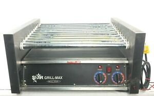 Star Grill max Model 30 Roller Grill 120v 1150w Commercial Hotdog Cooker