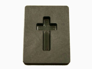 1 Oz Custom Cross Gold High Density Graphite Mold Silver Necklace 1 7 16