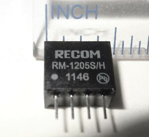 100 Pcs Rm 1205s h 12v To 5v Dc dc Converter Isolated Output 50ma 10d3 3