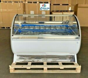 New 16 Pan gelato Ice Cream Dipping Cabinet Freezer Display Cases Chest Nsf Etl