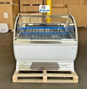 New 12 Pan gelato Ice Cream Dipping Cabinet Freezer Display Cases Chest Nsf Etl