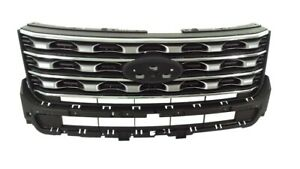 Grill For 2016 2017 Ford Explorer Front Upper Grille Replacement 1pc